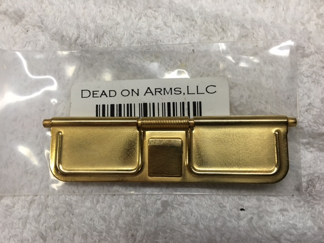 18K Heavy Gold Plate DURKIN TACTICAL Pinless Dust Cover fits all Mil-Spec  AR 15's (NO INTERNATIONAL SHIPPING)